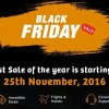 Black Friday Sale on sastaticket.pk [25th November]