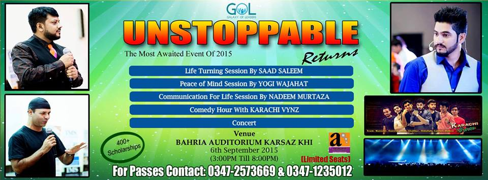 UNSTOPPABLE Returns - Most Awaited Event of 2015